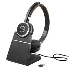Jabra Evolve 65 Stereo with charging Stand