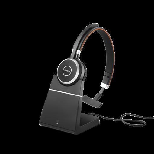 Jabra Evolve 65 UC Mono headset with Charging Stand