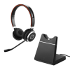 Jabra Evolve 65 UC Stereo headset with Charging Stand